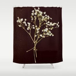 Vintage Love - Baby's Breath Shower Curtain