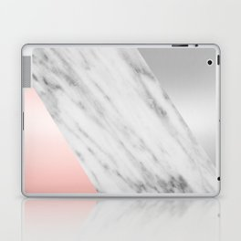 Pink Grey and Marble Collage Laptop & iPad Skin