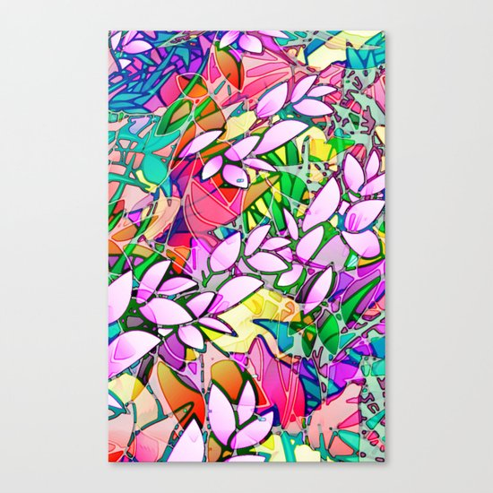 Grunge Art Floral Abstract G130 Canvas Print