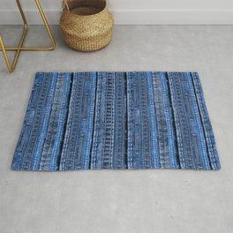 Cool Blue Jeans Denim Patchwork Design Rug