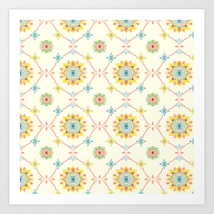Vintage Peranakan Tiles Art Print By Jilln