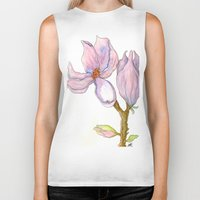magnolia Biker Tanks featuring Magnolia by Coffee and Pen