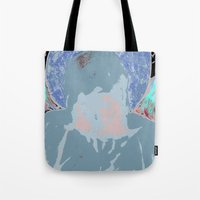 halo Tote Bags featuring Halo by Mylittleradical