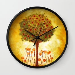 positive energy from the tree Wall Clock