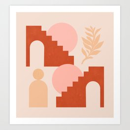 Abstraction_SHAPES_Architecture_Minimalism_003 Art Print