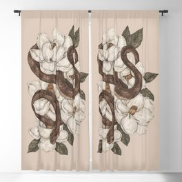 Snake and Magnolias Blackout Curtain