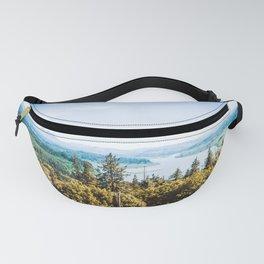 Astoria Oregon Landscape Overlook   Travel Photography Fanny Pack