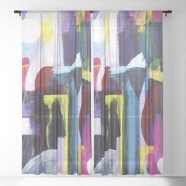 Juxtaposed Sheer Curtain