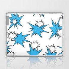 Stars (Blue & White on White) Laptop & iPad Skin