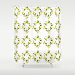 Lemon Print Shower Curtain