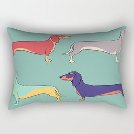 Dachshunds Rectangular Pillow