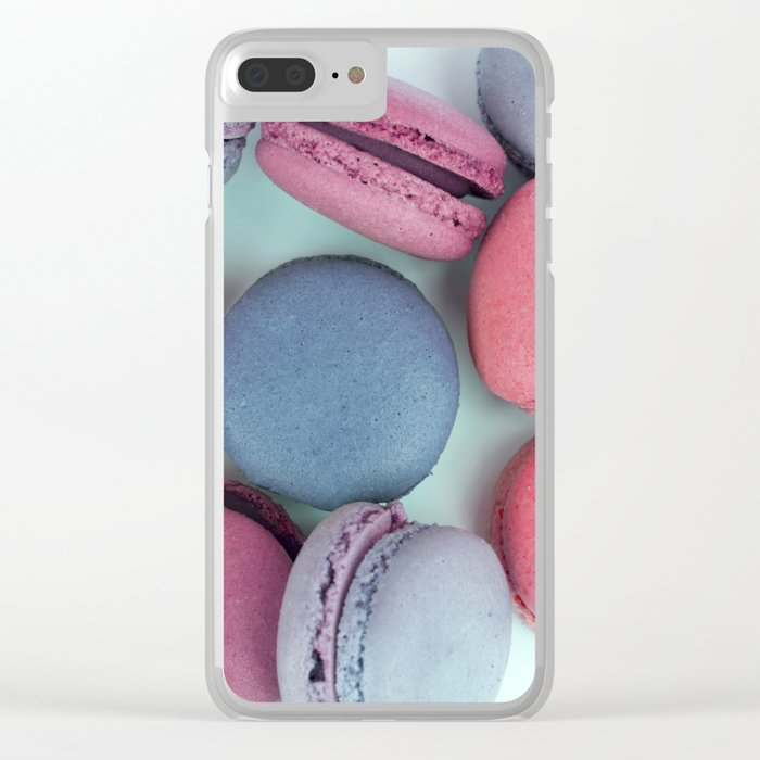 Berry Macarons Photograph Clear iPhone Case
