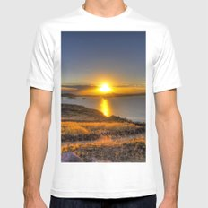 A Titicaca Sunset MEDIUM Mens Fitted Tee White