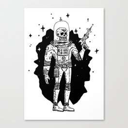 Intergalactic Bone Man Canvas Print