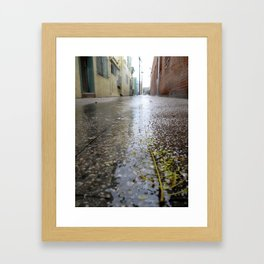 Rain leaf  Framed Art Print
