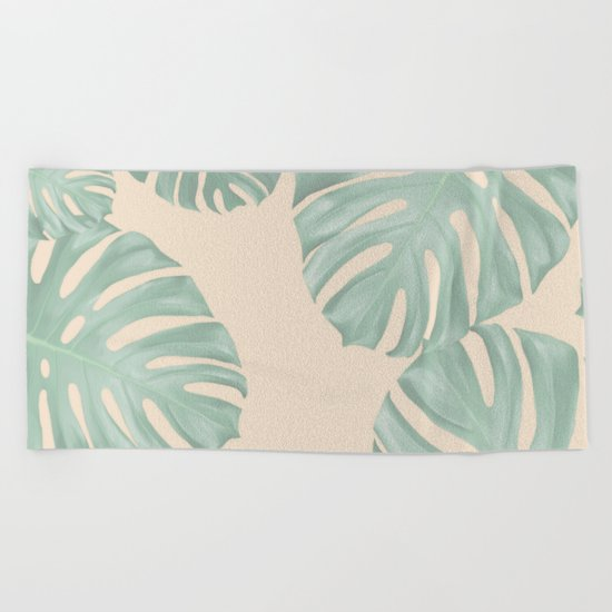 Monstera Suara Beach Towel