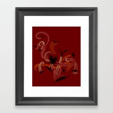 Holding Pattern Framed Art Print