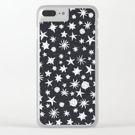 Sad Starfish Clear iPhone Case