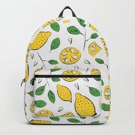 Doodle lemons pattern Backpack