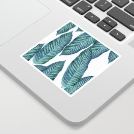 Blue Banana Leaves #society6 Sticker