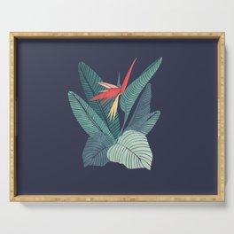 Bird Of Paradise Flower   Strelitzia Illustration Serving Tray