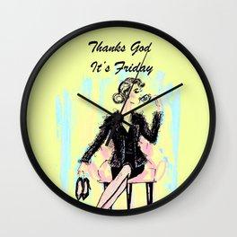 Fridai Wall Clock