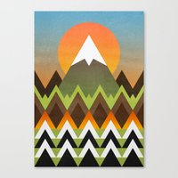 camp Canvas Prints featuring Camp by Elisabeth Fredriksson