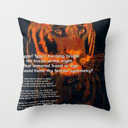 Thy Fearful Symmetry  Throw Pillow