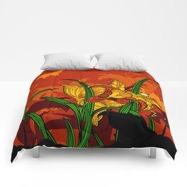 Jungle Lilies Comforters