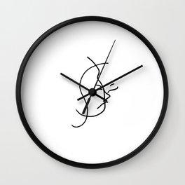 Internalize // Blind Contour Wall Clock