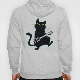 Cat with a fork Hoody