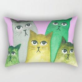 Baton Rouge Whimsical Cats Rectangular Pillow