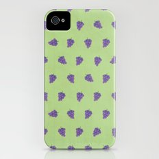 Cute Purple Grapes Picture Pattern iPhone (4, 4s) Slim Case