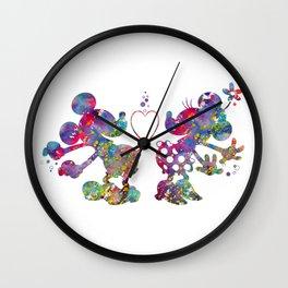 Mickey Loves Minnie Wall Clock