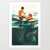 viria Art Prints featuring rinharu by viria