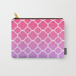 Pink & Lavender Ombre Quatrefoil Carry-All Pouch