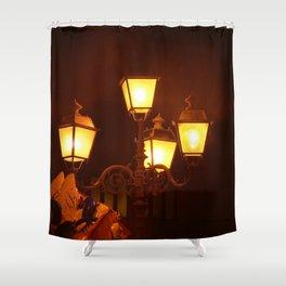 Italian Streetlights And Balloons Shower Curtain