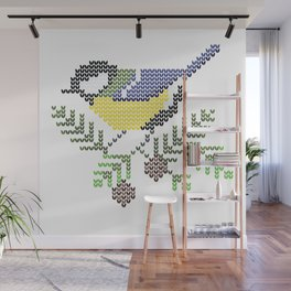 Great tit (Parus major) Wall Mural