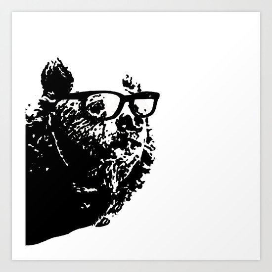 Geeky Bear Art Print