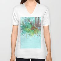 flight V-neck T-shirts featuring Flight by karleegerrand