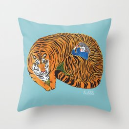 The wild beast is reasting Throw Pillow