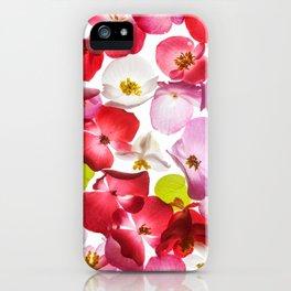 Begonia Flowers iPhone Case