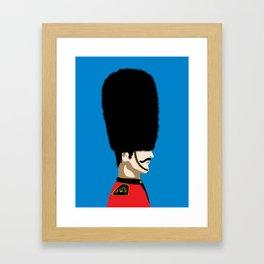Grand mustache Beefeater Framed Art Print