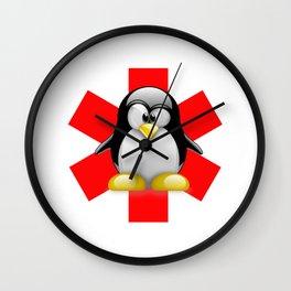 Linux Tux Emergency Wall Clock