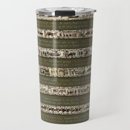 Bayeux Tapestry on Army Green - Full scenes & description Travel Mug