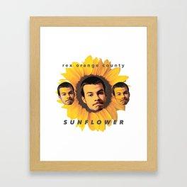 Rex Orange County Sunflower Framed Art Print