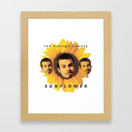 Rex Orange County Sunflower Framed Art Print