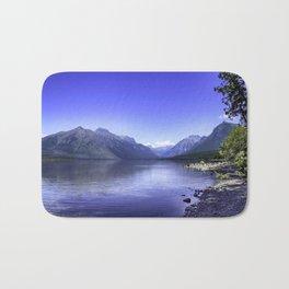 McDonald Lake In Glacier National Park Bath Mat