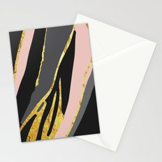Gold and pale river Stationery Cards