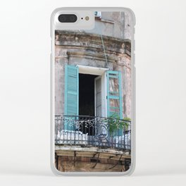 New Orleans French Quarter Balcony Clear iPhone Case